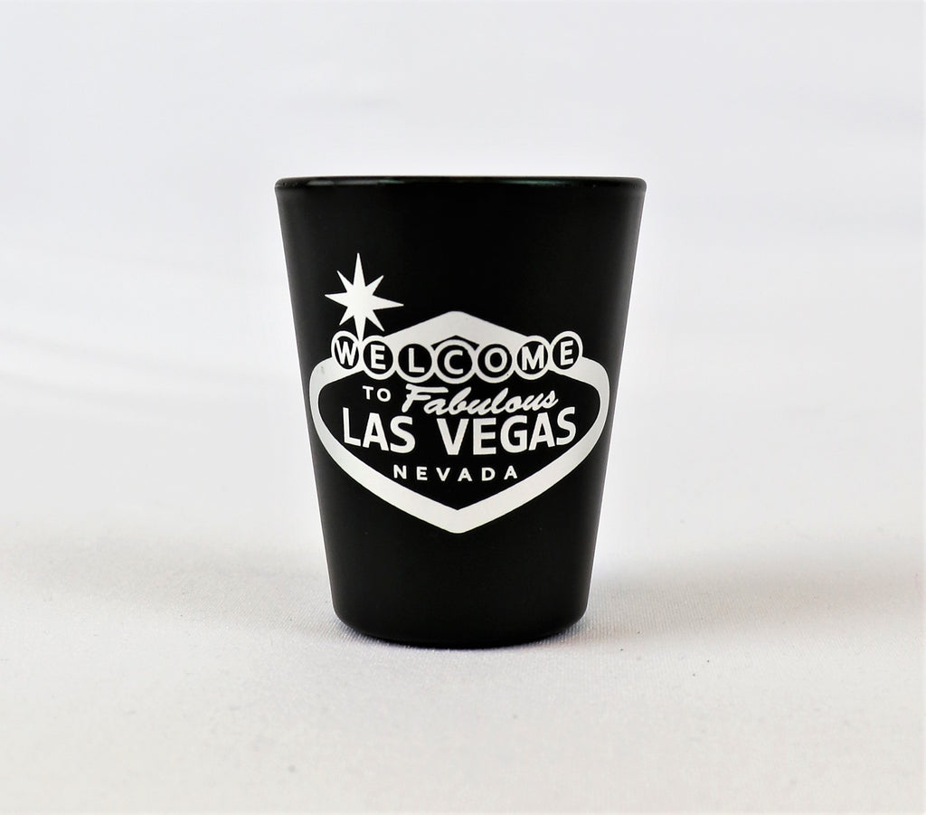 Las Vegas Metallic Welcome Sign Shot Glass