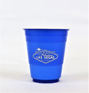 Las Vegas Welcome Sign Plastic Shot Glass