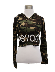 Ladies Nevada Camo  Crop Top Hoodie