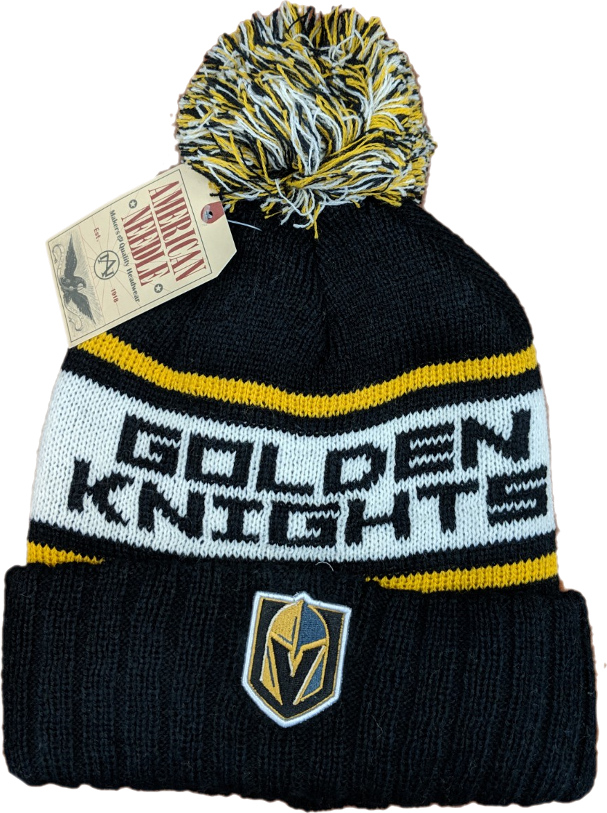e93eb976570 Vegas Golden Knights Cuffed Knit Beanie with Pom
