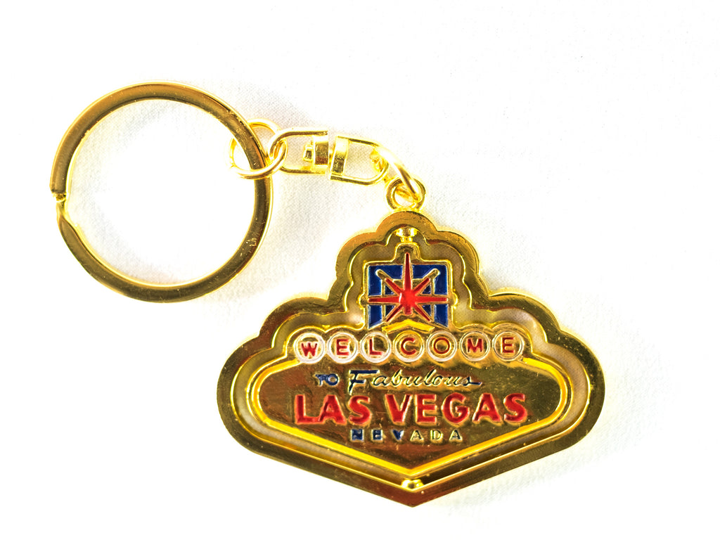 Las Vegas Welcome Sign Spin Keychain