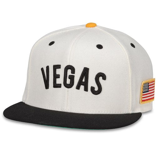 Vegas Golden Knights American Flag Cream Adjustable Snapback