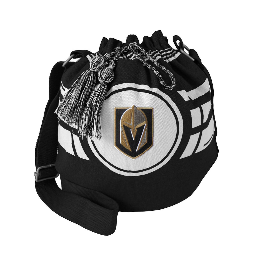 VEGAS GOLDEN KNIGHTS RIPPLE DRAWSTRING BUCKET BAG PURSE