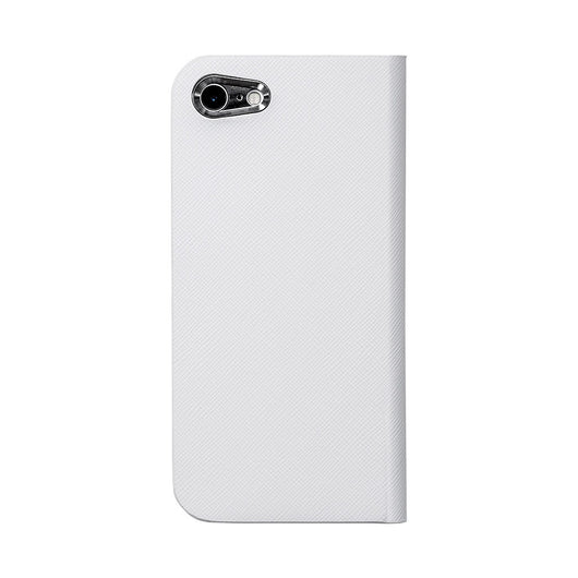【予約商品】Calf Leather ケース for iPhone 7 (White 白) - Book Type