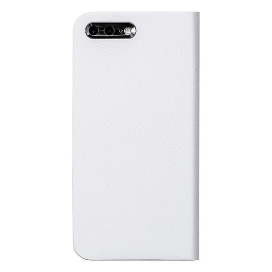 【予約商品】Calf Leather ケース for iPhone 7 Plus (White 白) - Book Type