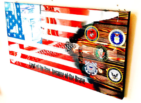 Custom Military Flag - MULTIPLE LOGO'S