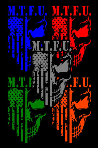 DECAL - M.T.F.U. - 10 INCH - COLOR