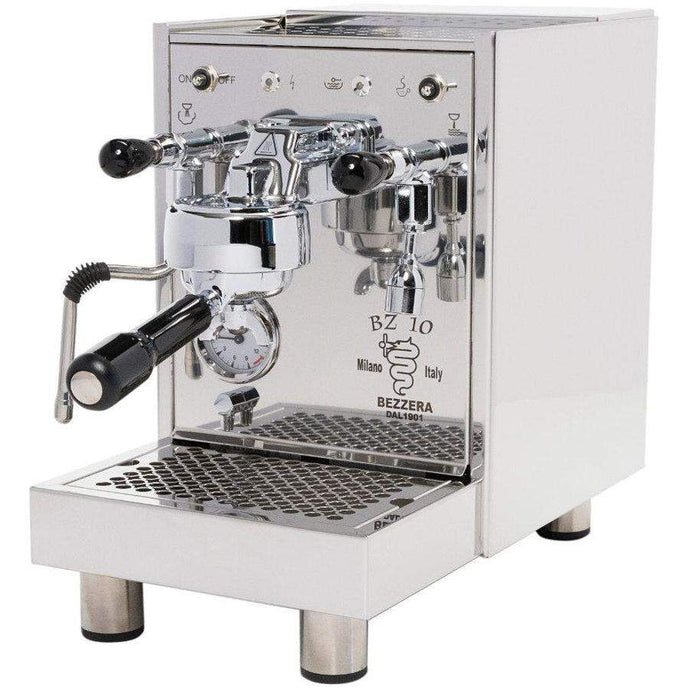 Bezzera BZ10 front right view classic italian compact espresso machine