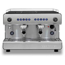 Black Silver Espresso machine Iberital 2 group compact