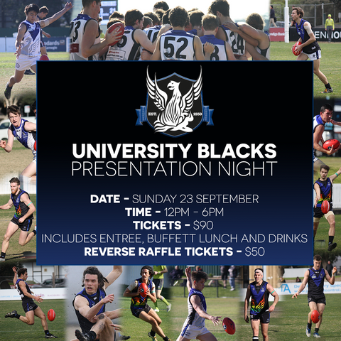 Uni Blacks Presentation Day 2018 - 23rd September