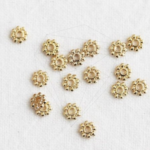 Gold - 4mm Metal Beads