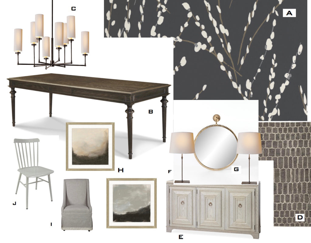 Dramatic Dining Room:  Putting It All Together Like a Pro