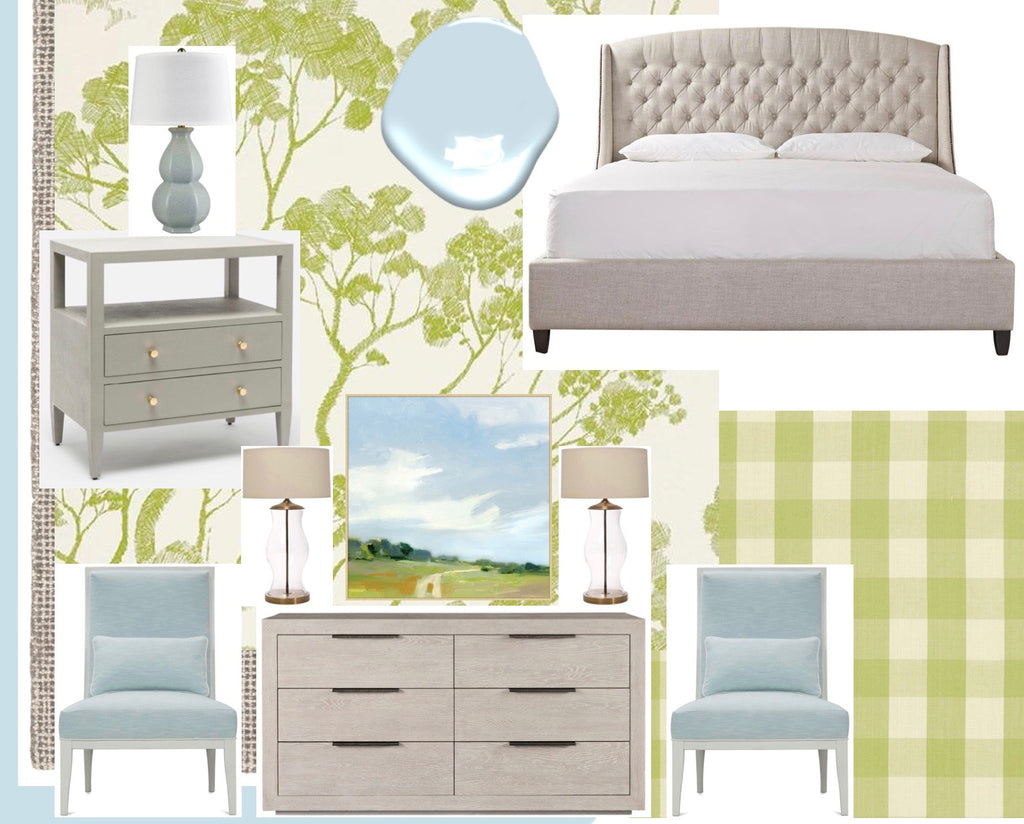 Apple Green Luscious Bedroom Nest Interior Design