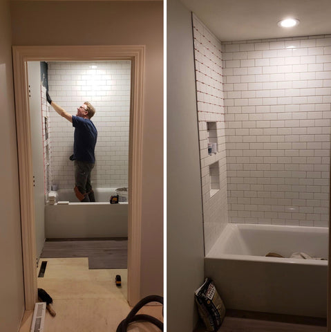 Duffy shower tile installation