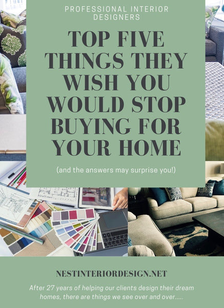 5 THINGS DESIGNERS WISH YOU WOULD STOP BUYING FOR YOUR HOME