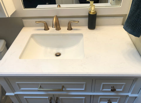 Vanity with off center sink