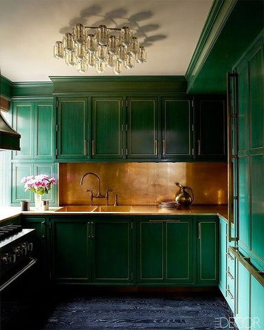 Kelly Wearstler Nest Interior Design Green Kitchen