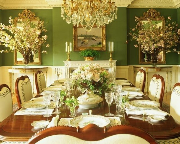Mark Sikes Green Dining Room Nest Interior Design