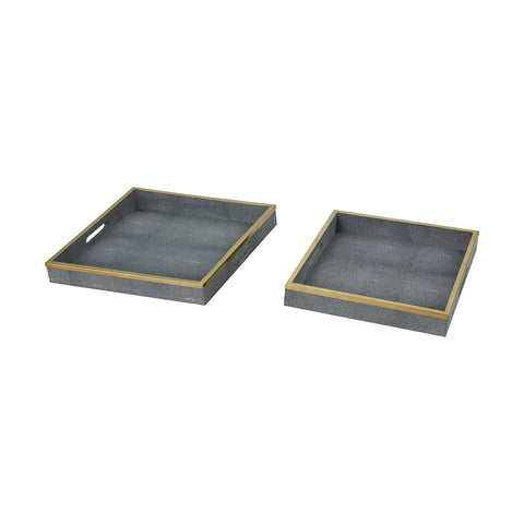 Grey and Gold Decorative Trays