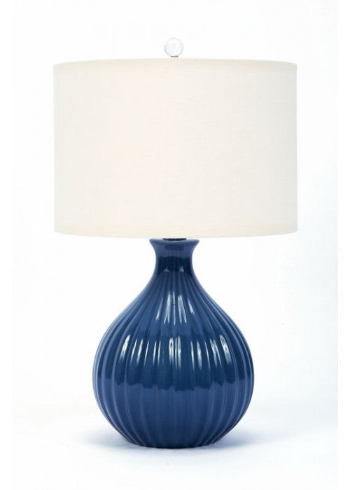 Ceramic Midnight Blue Lamp