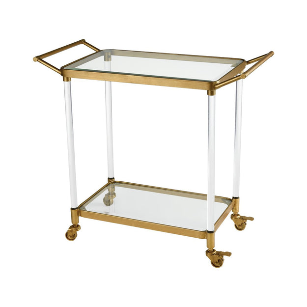 Glass Top Bar Cart