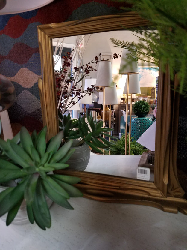 Vintage Frame on Stand with Mirror