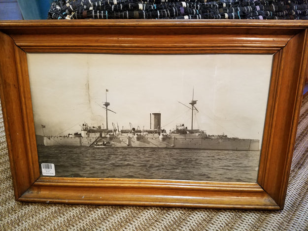 Vintage Ship Framed Photo I