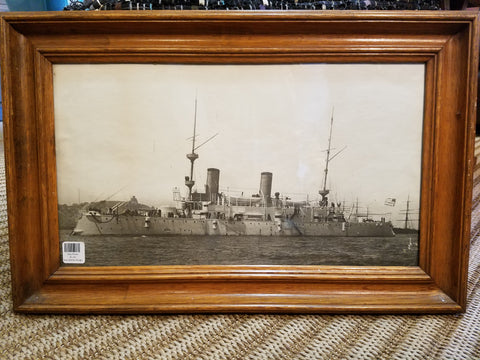 Vintage Ship Framed Photo III