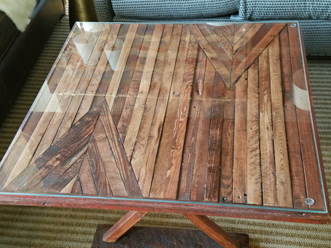 Vintage Inspired Crazy Quilt Coffee Table