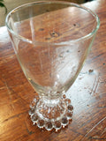 Vintage Tall Hobnail Glass