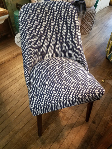 Navy Strands Chair