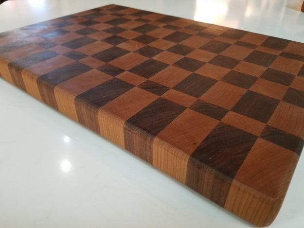 "12"" x 17"" Checkerboard Style Cutting Board"