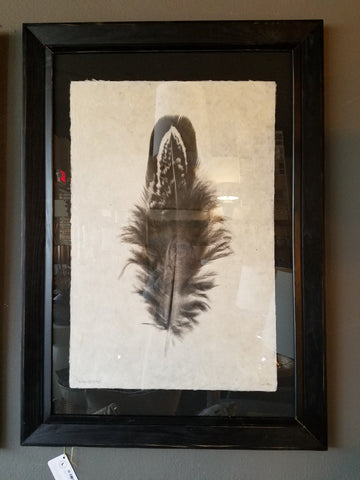 Black Frame with Feather Study #3
