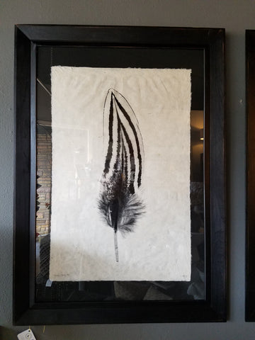 Black Frame with Feather Study #2