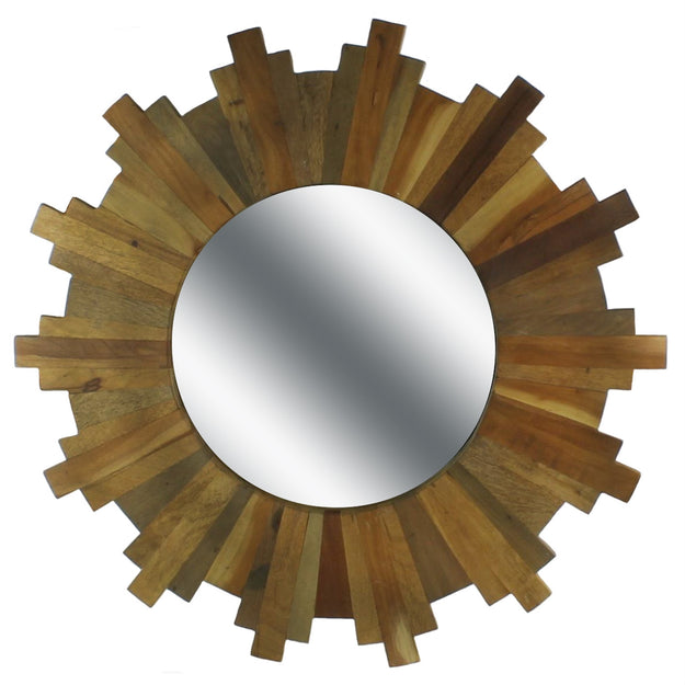 Sunburst Mirror-Wood