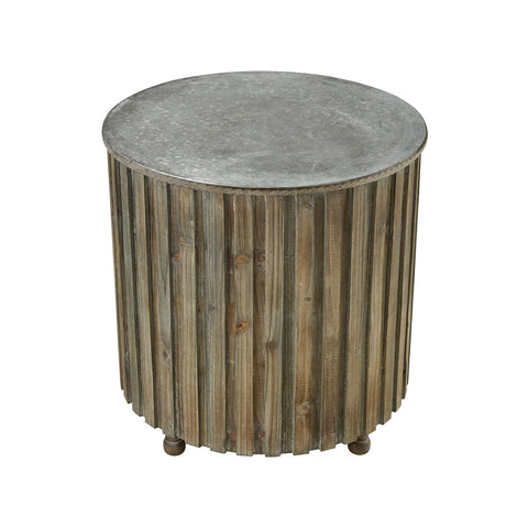 Farmhouse Round Accent Table