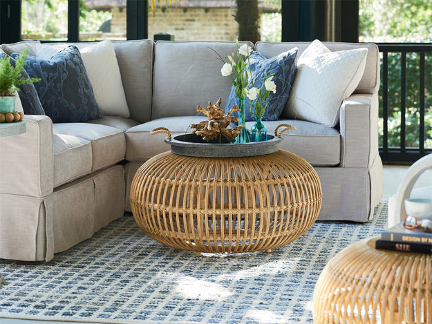 "26"" Round Rattan Table"