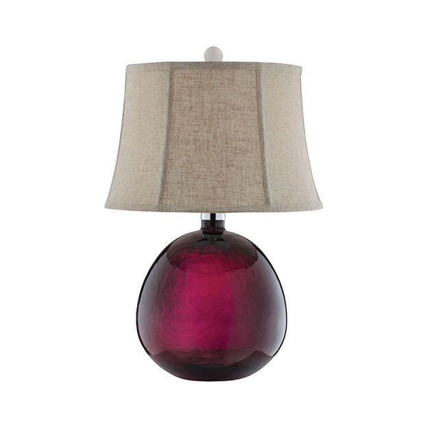 Burgundy Glass Lamp