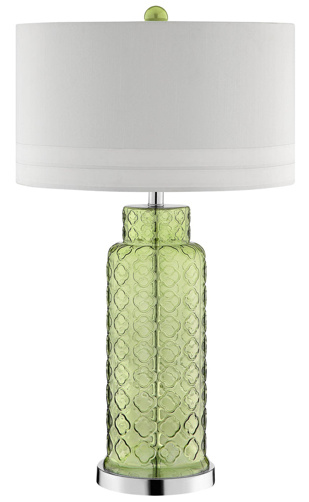Green Quatrefoil Lamp