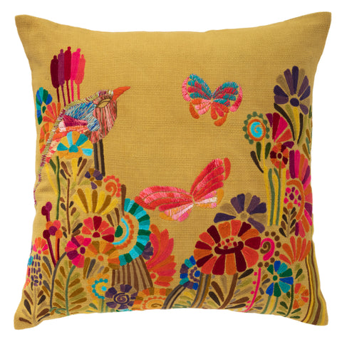 Botanica Embroidered Decorative Pillow