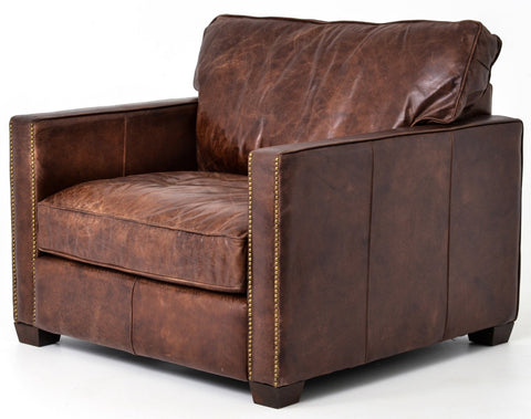 Lafayette Lounge Chair in Old Saddle Brown