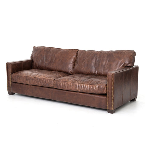 Larkin Sofa in Old Saddle Brown