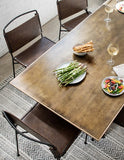 Brass Clad Dining Table