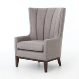 Channeled Wing Chair in Pewter