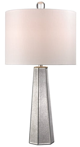 Hexagonal Mercury Glass Table Lamp