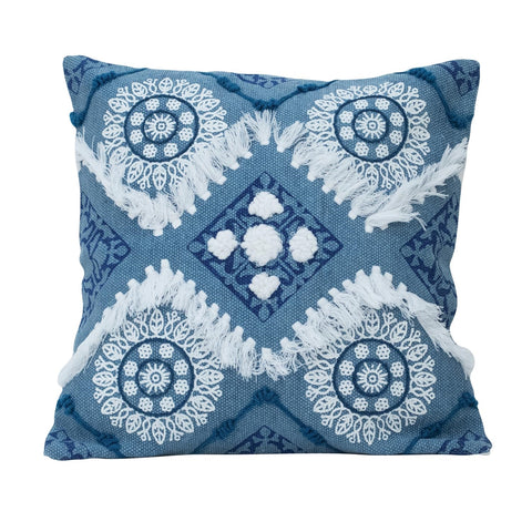 Hand Woven Circle Pillow
