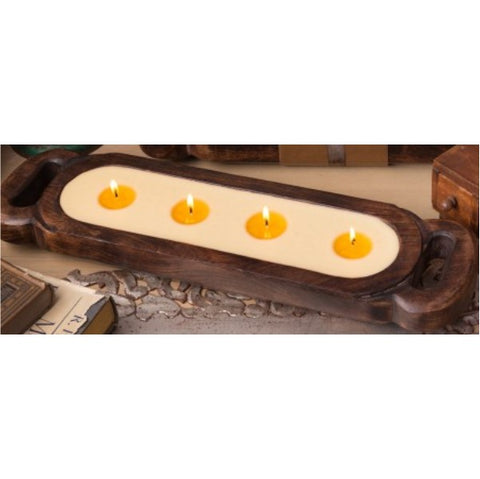Wooden Candle Tray- Grapefruit Pine Medium