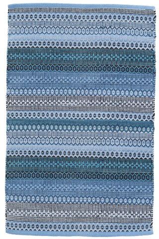 Gypsy Stripe Denim/Navy Woven Cotton Rug