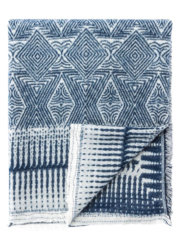 Vaporous Gray & Dress Blues Throw