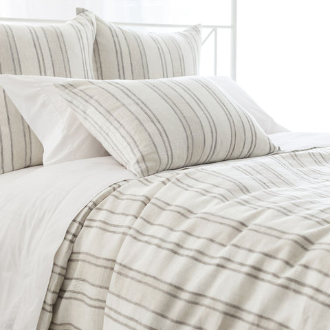 Hampton Ticking Linen Duvet Cover